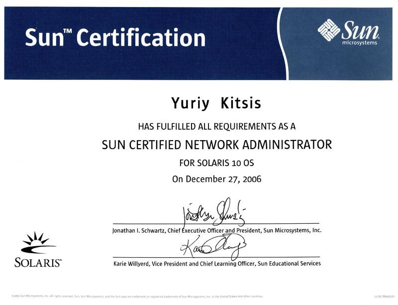 Image result for Sun certified solaris 10