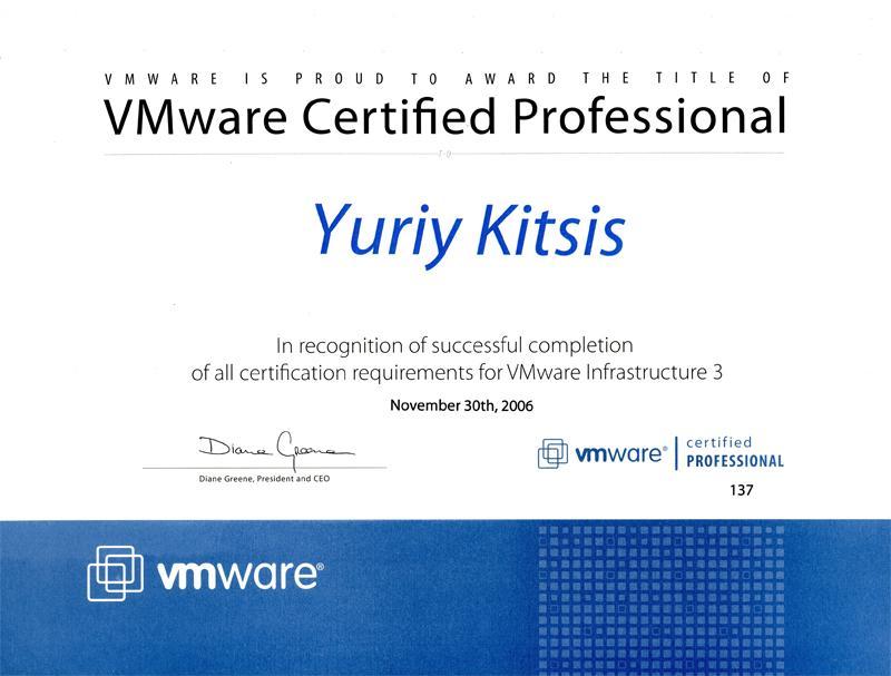 vmware system admin resume
